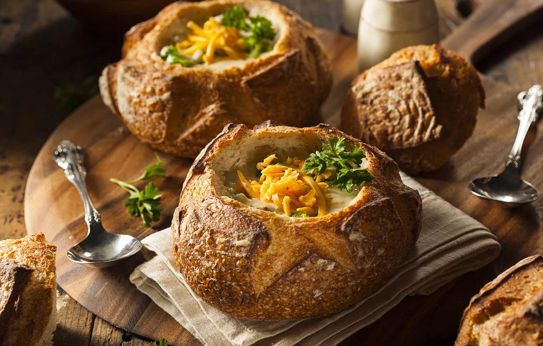 Kartoffel-Schnittlauch Suppe mit Bacon -